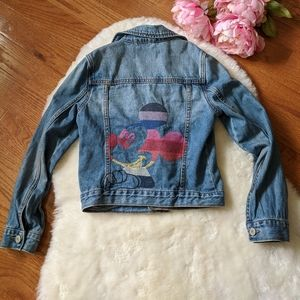 Gap kids Disney jean jacket denim Mickey mouse